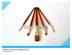 5PCS Colorful Wooden Handle Artist Brush in pvc Bag voor Painting en Drawing