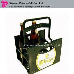 Bouteille de verre de vin portable transporteur pour la promotion de la barre