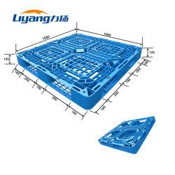 Grand double faces empilables en polyéthylène haute densité pour la vente de palettes en plastique