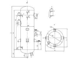 Separador Gas-Liquid para um sistema de refrigeração de amônia