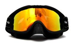 Vetri pieni della neve dell'obiettivo del PC del doppio di Uv-Protezione con gli occhiali di protezione smontabili del pattino della protezione di punta