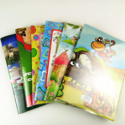 O notebook para a escola fornece cobertura de PVC sob reserva de endereços