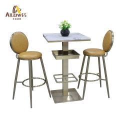 Металлический стержень мебель круглый желтый провод фиолетового цвета сиденья золотого цвета из нержавеющей стали бар табурет стул