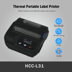 Livraison express Mini mobile Bluetooth® portable d'expédition Étiquette imprimante thermique (HCC-L31)