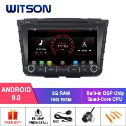 مشغل أقراص DVD للسيارة Witeson Quad-Core Android 9.0 لنظام Hyundai IX25 وظيفة DAB+ مدمجة