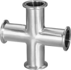 衛生ステンレス製の管付属品鋼鉄クランプ溶接十字