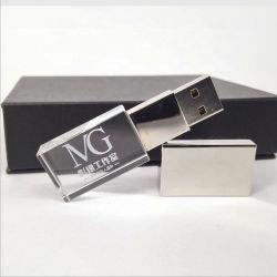 昇進のギフトUSBのカスタムロゴLED軽いUSBの棒が付いている水晶ペン駆動機構ように写真撮影のギフト最小の順序無し