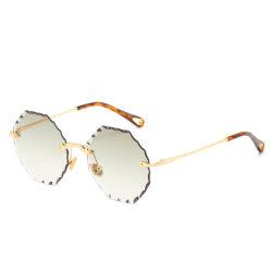 China-Lieferanten-Qualitätskundenspezifische randlose Weinlese-Sonnenbrillen