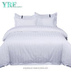 Re bianco a strisce Bed dell'assestamento dell'hotel dell'hotel del cotone di conteggio dei 300 filetti