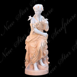 Salão Lday Escultura estátua de pedra figura para decoração