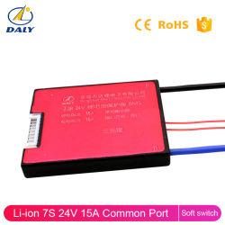 Batterie lithium-ion BMS PCM 7s 15A/usine bloc-batterie LiFePO4 PCB BMS 7s 22.4V avec l'interrupteur soft