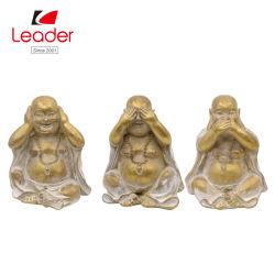 Feliz estatuas de Buda de resina decorativa Inicio Hear No Evil no ven el mal no hablan mal de Buda
