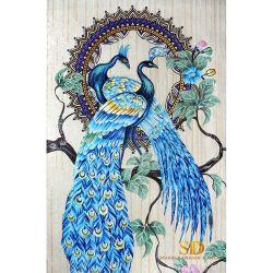 Красивые панно из синего стекла Aqua Moaic плиткой план переливчатый для монтажа на стену в гостиной и ванной комнаты