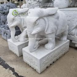 Tallada en mármol Jardín escultura elefante