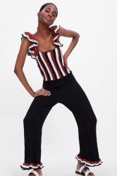 Frauen Mode Gestrickt Limited Edition Häkel-Jumpsuit