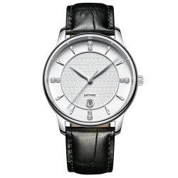 "Luxury Classic Business Monitor Analógico inoxidável homens "" Relógios de quartzo"