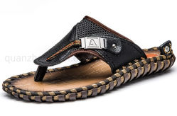 OEM masculina artesanais de praia no Verão as sandálias de couro chinelos