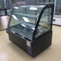 2mのコンパクトデザインのPatisserieのスリラーのパン屋によって冷やされている表示冷凍装置の縦のケーキの陳列ケース