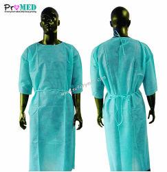 De Medische/Tand/van de de verrichtingsisolatie van het Ziekenhuis Nonwoven/PP/SBPP/SMS/Spunlace chirurgische toga van de levering met korte koker