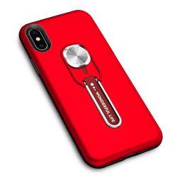 Гибридные силиконовые ПК ИЗ ТЕРМОПЛАСТИЧНОГО ПОЛИУРЕТАНА кольцо металлической Встроенная подставка для телефона iPhone X Xr Xs Xs Max