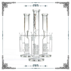 13,5 polegadas Bube reta de vidro transparente fumar Matriz do tubo de água cristalina Waterpipes Perc Hookah Base espessa