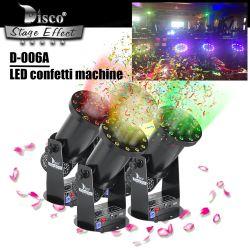 Stage LED Electric Color Papier Konfetti Spray Cannon DMX-Effekt Maschine