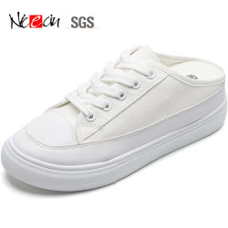 Faites glisser la moitié femelle populaire du caisson de nettoyage de chaussures en toile à l'intérieur d'accroître étudiant blanc du caisson de nettoyage