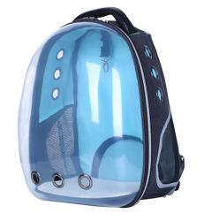 الموضة والكتف المزدوج واضحة مساحة شفافة الحيوانات الأليفة الحيوانات الأليفة الكلب القط حقيبة حقيبة ظهر حامل العبوة (CY8962)
