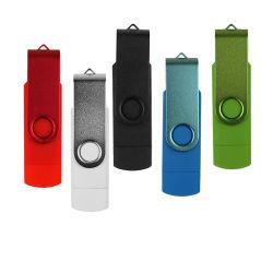 Kundenspezifisches Firmenzeichen-Doppelt-Gebrauch androides OTG USB-Blitz-Laufwerk-Feder-Laufwerk 4GB 8GB 16GB 32GB 64GB Blitz-Laufwerk USB-2.0 Pendrive Mikro-USB-Stock