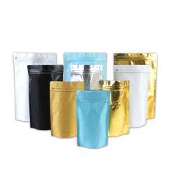 Matt-schwarzer Plastikaluminiumfolie-Kaffee-verpackenbeutel mit Ventil