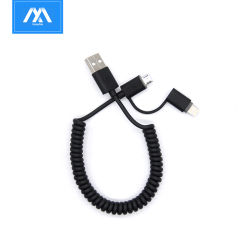 Flexibele 2 in 1 Multi Micro- Van de Lader USB Kabel van usb- Gegevens voor iPhone voor Nota 7 van Samsung voor Androïde Schakelaar