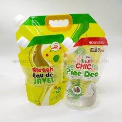 Doypack Detergente permanente de la bolsa de lavado de ropa /Embocadura de plástico bolsas de embalaje para el Detergente en Polvo