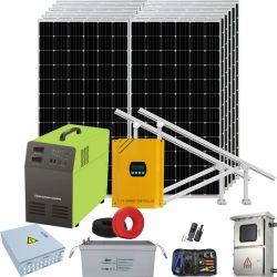 Potente sistema Solar Inicio LÁMPARA DE LED con el banco de baterías de almacenamiento