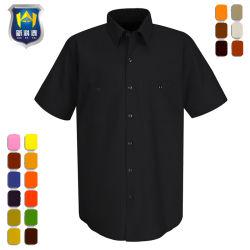 산업 코드 안락 간결 소매 일 셔츠