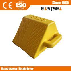 Контакт колесный башмак Custom, желтого цвета устройства безопасности дорожного движения