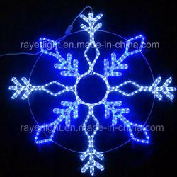 옥외 훈장을%s LED 밧줄 눈송이 주제 빛 크리스마스 불빛