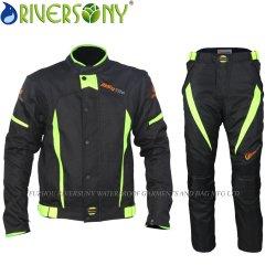 Nueva llegada Wholesale Oxford impermeable transpirable reflexivos Traje de chaqueta de carreras de motos