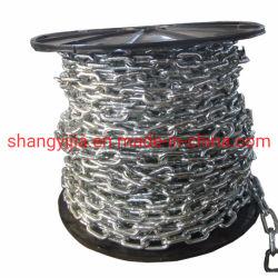 PVC personnalisés/DIN5685 entièrement recouvert de plastique de l'acier de la chaîne de liaison