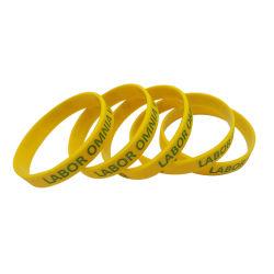 カスタムファッションシリコン / ゴム / PVC / プリント / エンボス / デボス / 発光シリコンリストバンドブレスレットロゴ付き( WB21 - B )