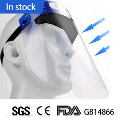 SGS transparentes descartáveis de plástico de EPI Anti Protecção de nevoeiro de isolamento de segurança face completa cobertura de cuidados de máscara de protecção de protetor de rosto