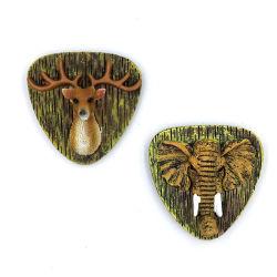 Großhandelselefant-und Rotwild-Kühlraum-Magnet des harz-3D Tier