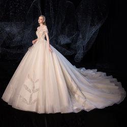 El satén Retro hecho personalizado nupcial vestidos de novia real 2020