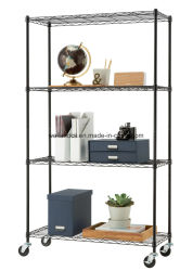 NSF 5 Tier Light DTY Decorative Wire Storage Rack Adjustable Home/Office Metal Shelf Display