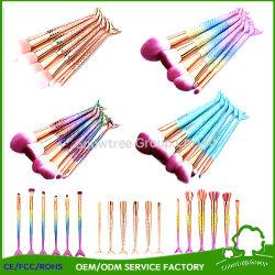 Späteste Modeerscheinung-synthetisches Haar bilden Fisch-Endstück-Pinselvegan-Nixe-Verfassungs-Pinsel für Kosmetik-Verfassung