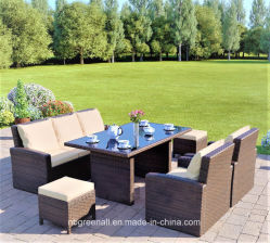 2018新しいデザイン快適な藤または枝編み細工品のソファーの屋外の庭の家具