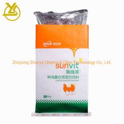 Colorido impreso 25kg de fertilizante de envases laminados Piensos Bolsa tejida PP