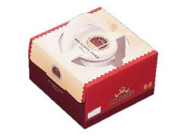 Fácil impresión brillante papel tomado Cup Cake Box para la entrega