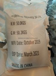 Fabricante Non-Ferric Sulfato de alumínio Al2 (SO4) 3 Flake//Granular em pó