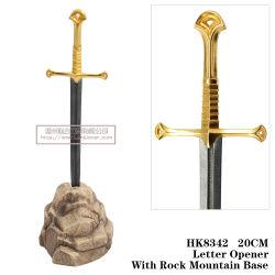 Le Seigneur de l'anneau épée de Chevalier de l'ouvreur épées Narsil Lettre Décoration de table d'épées