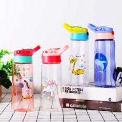 Venda por grosso de crianças sem BPA Sports garrafa de água de plástico com palha